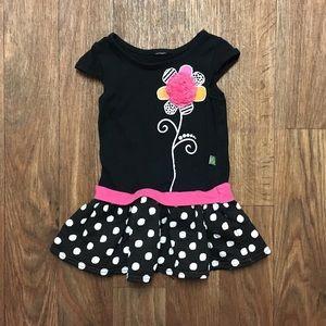 3T Dollie & Me polka dot dress with flower